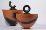 Lidded Terracotta Vessels by Kati Vamos